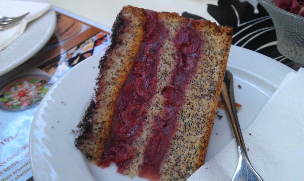Cherry & Poppyseed cake