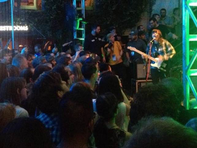 Courtney Barnett drawing the crowds at Cedar Street Courtyard