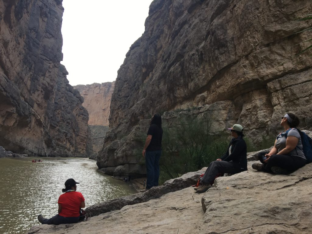 Gazing over the Rio Grande.