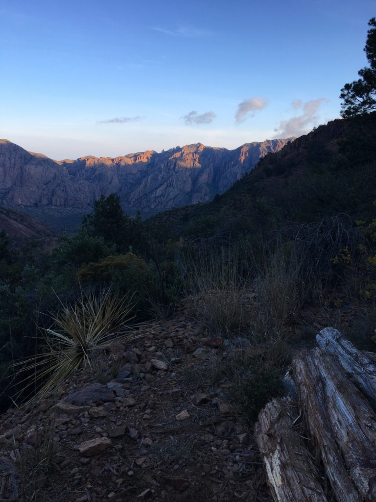 Dawn along the South Rim trail.